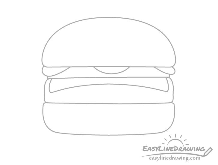 Burger cheese drawing