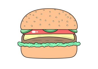 How to Draw a Burger Step by Step