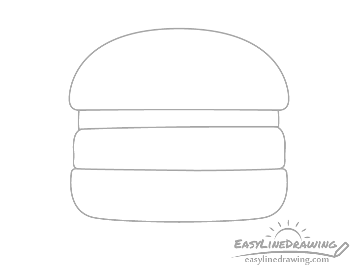 Burger outline drawing