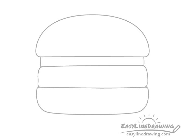 Burger outline drawing