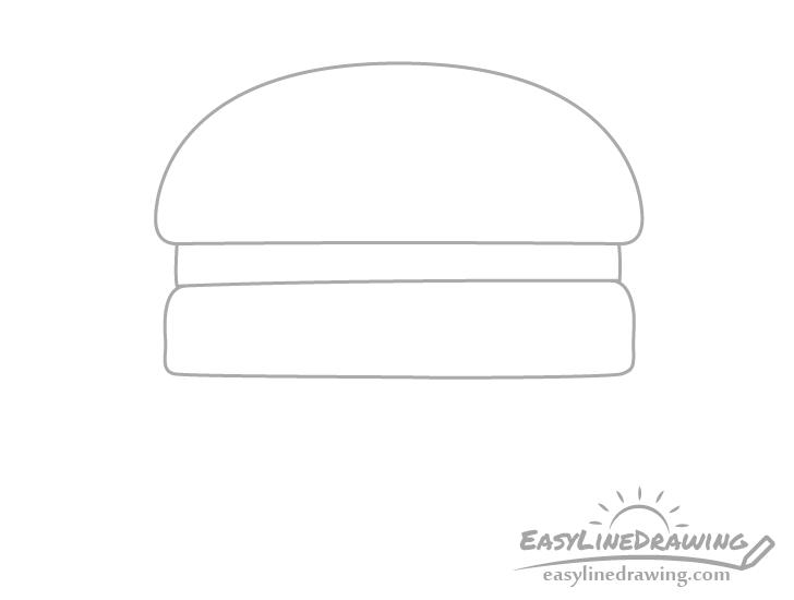 Burger patty drawing