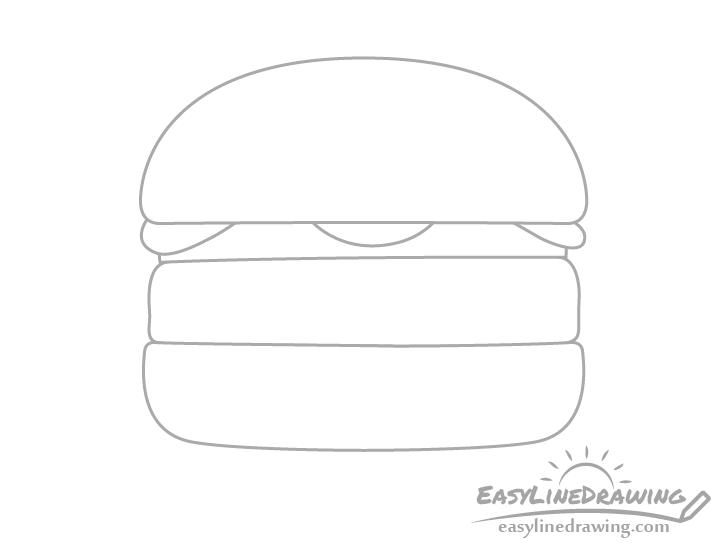 Burger pickles drawing