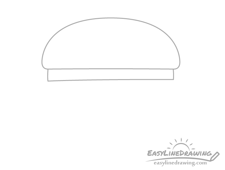 Burger tomato drawing