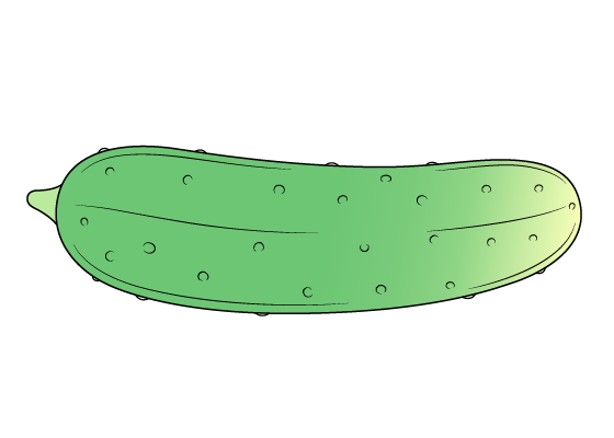 Cucumber drawing tutorial