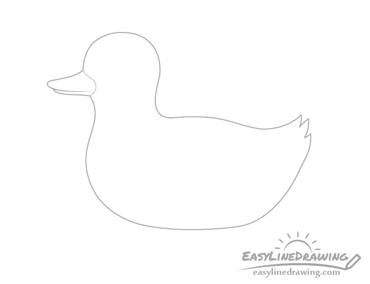 Duck bill drawing