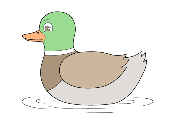 Duck drawing tutorial