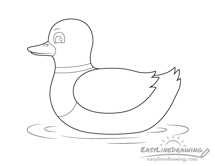 Duck line drawing