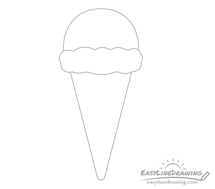 Ice cream cone outline drawing