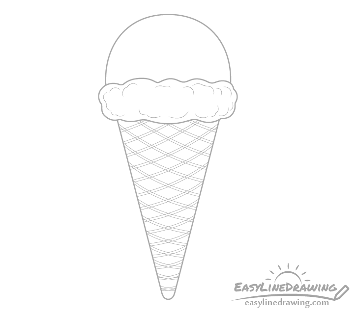 Ice cream cone pattern drawing