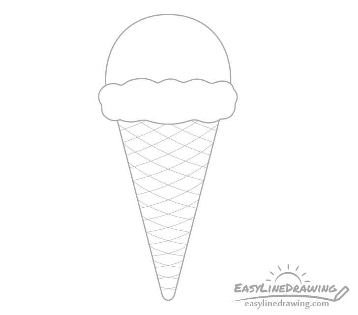 Ice cream cone stripes drawing