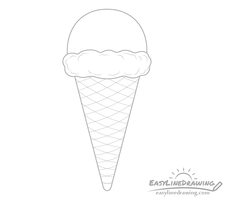 Ice cream details drawing