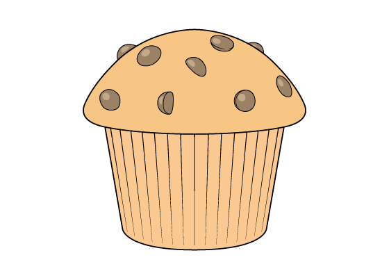 Muffin drawing tutorial