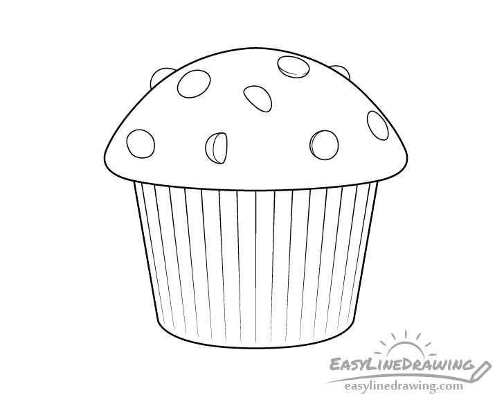 Muffin line drawing