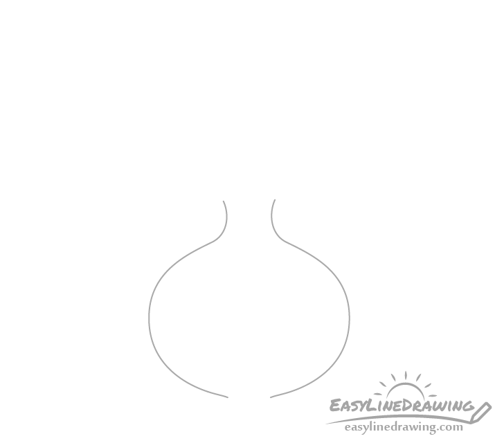 Onion bulb shape drawing