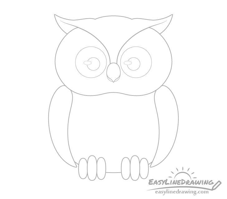 Owl eyes drawing