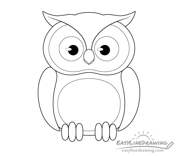 Owl line drawing