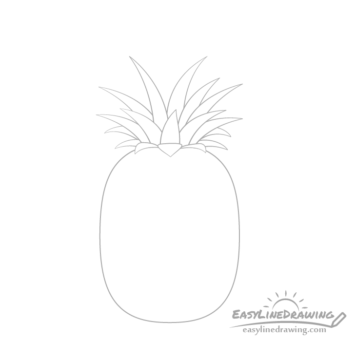 Pineapple crown middle drawing