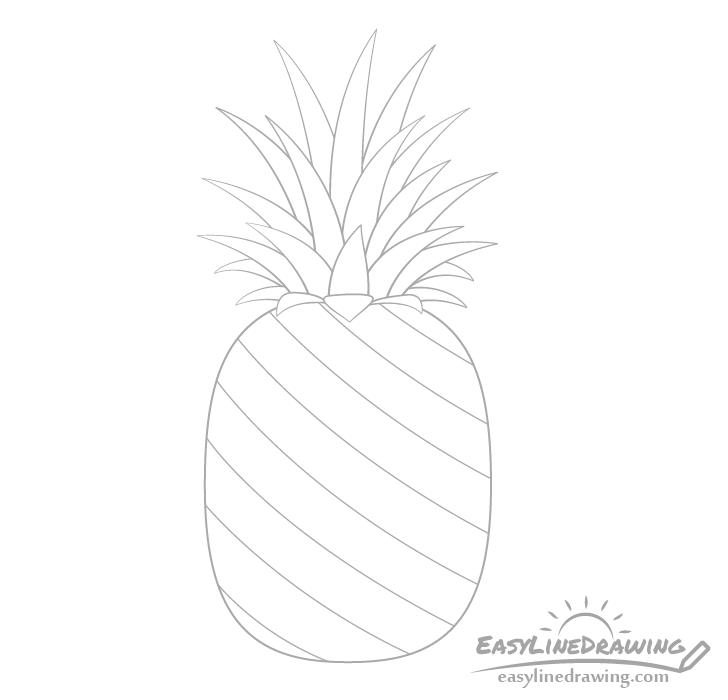 Pineapple pattern drawing