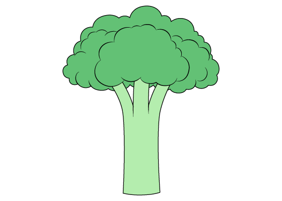 Broccoli drawing tutorial