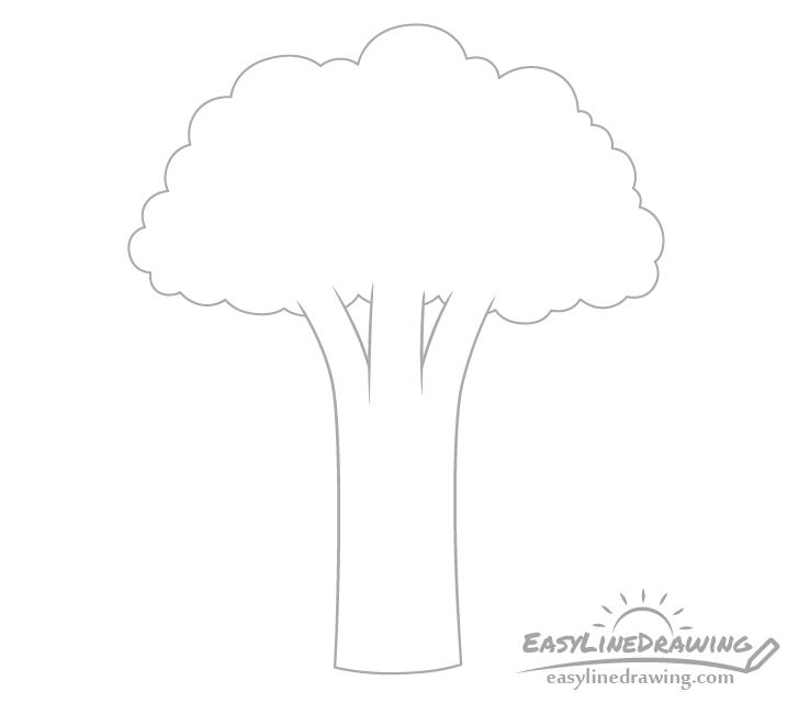 Broccoli stems drawing