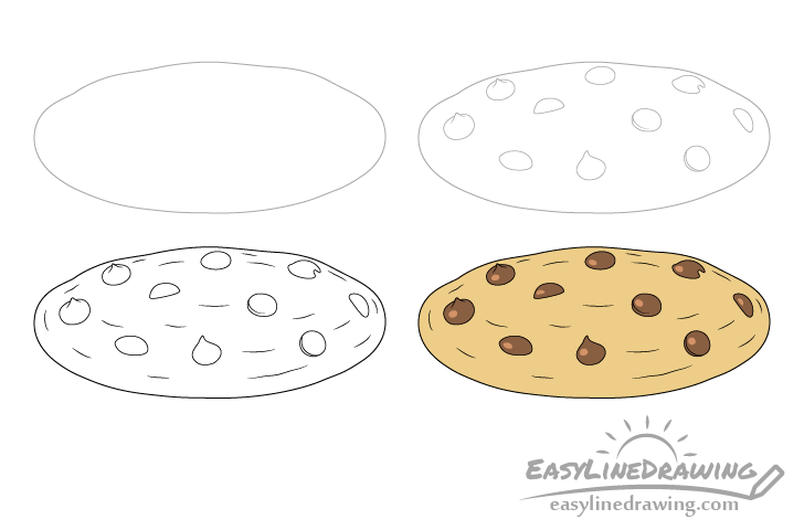 Cookie drawing step by step