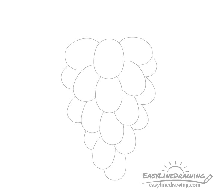 Grapes bunch drawing