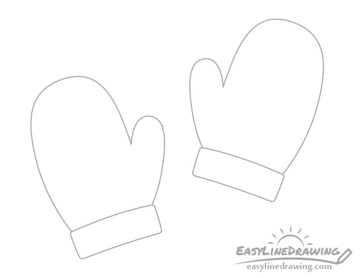 Mittens wrists drawing