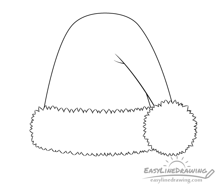 Santa hat line drawing