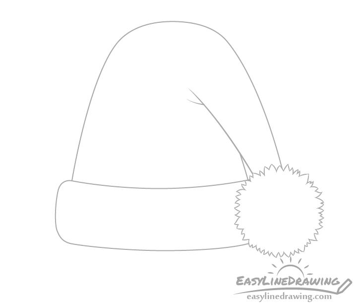 Santa hat pom pom