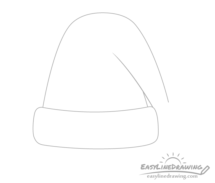 Santa hat top drawing