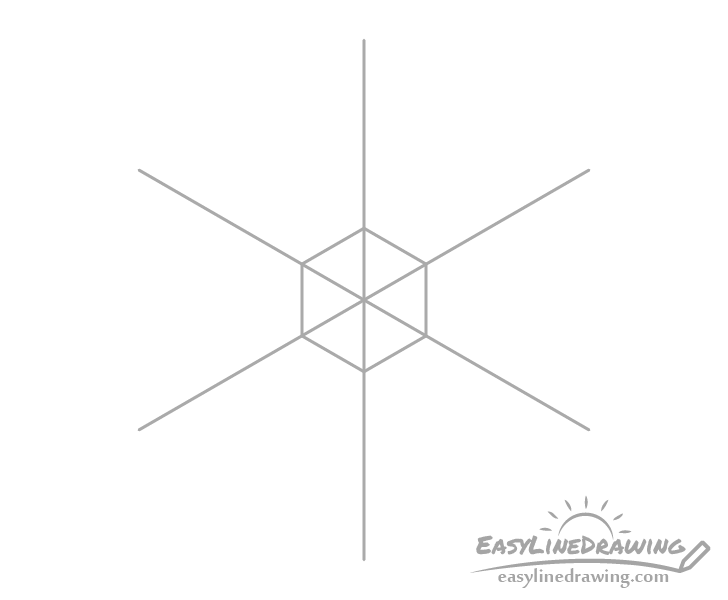Snowflake center drawing