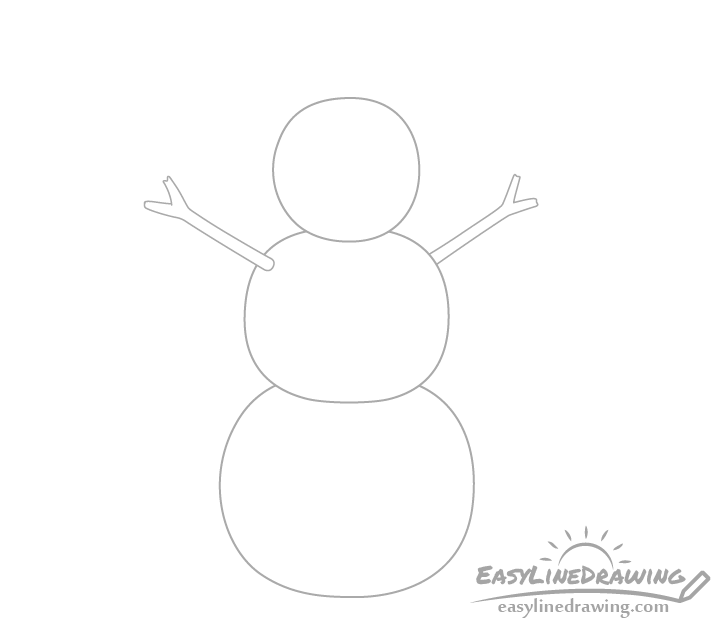Snowman arms drawing