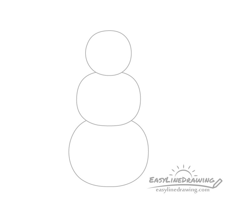 Snowman body drawing