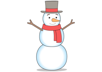 How to Draw a Snowman Step by Step