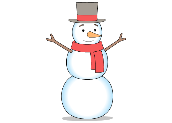 Snowman drawing tutorial