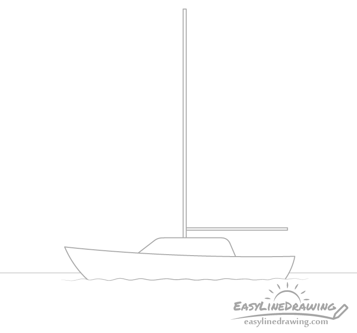 Boat mast drawing