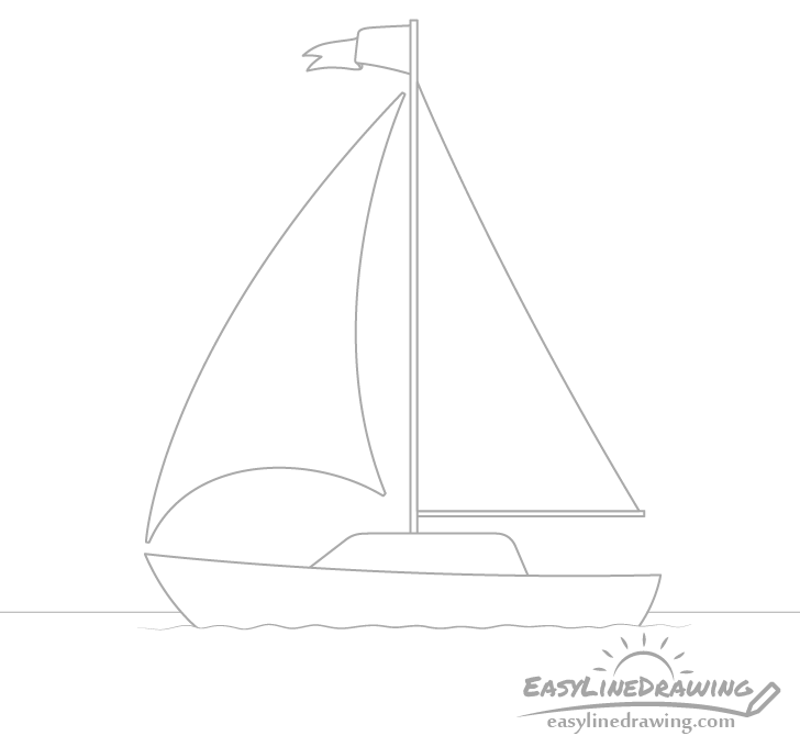 Boat sails drawing