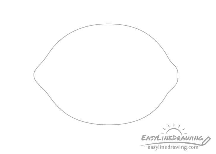 Lemon outline drawing