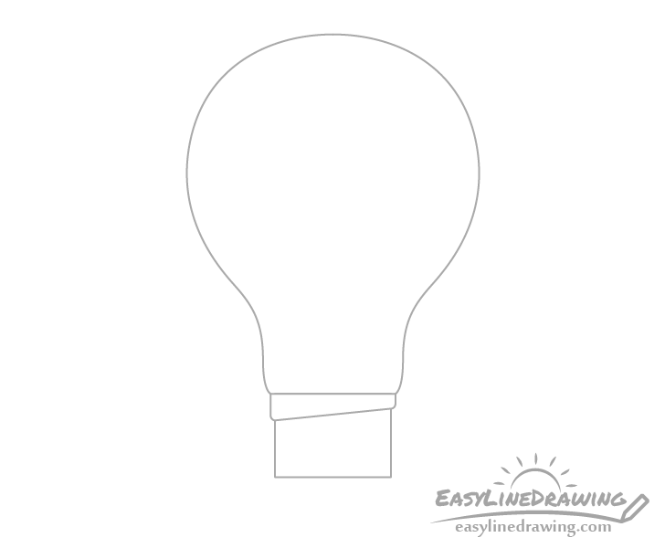 Light bulb base drawing