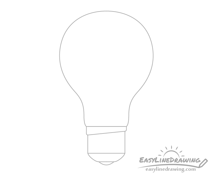 Light bulb bottom drawing