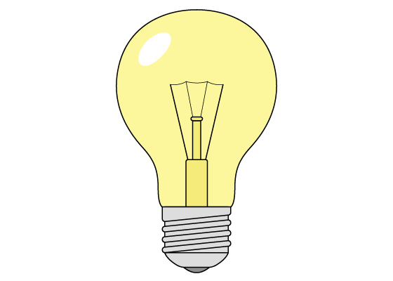 Light bulb drawing tutorial