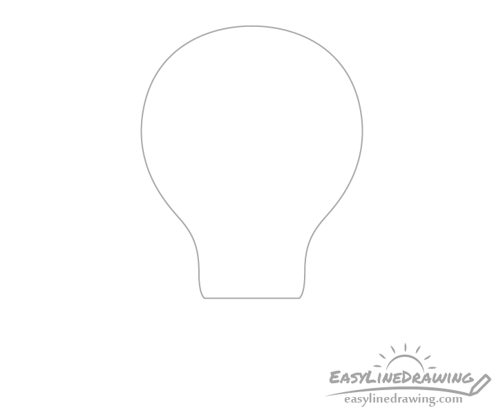 Light bulb glass drawing