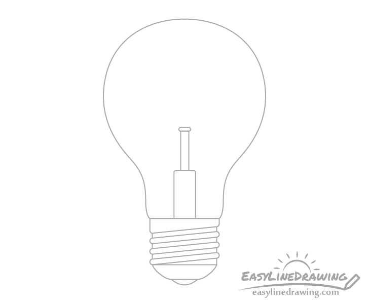 Light bulb glass mount drawing