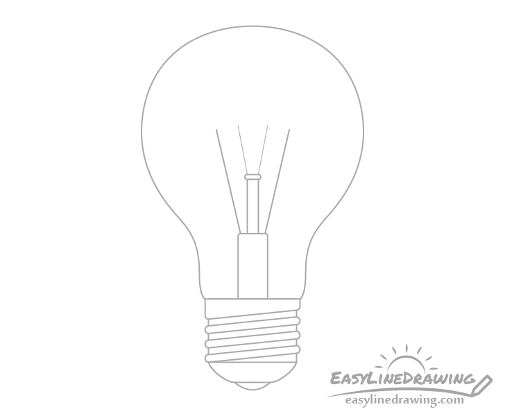 Light bulb support wires drawing