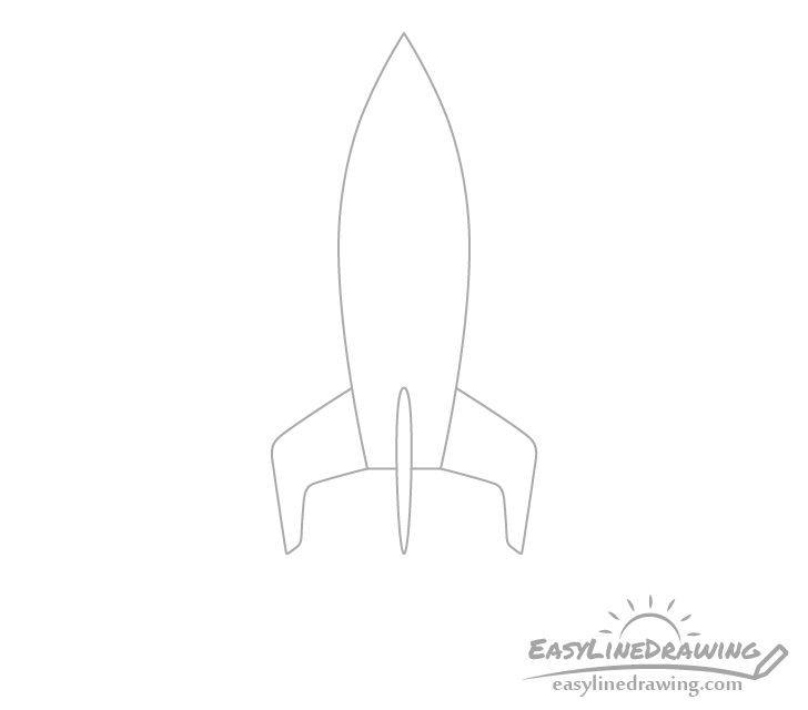 Rocket fins drawing