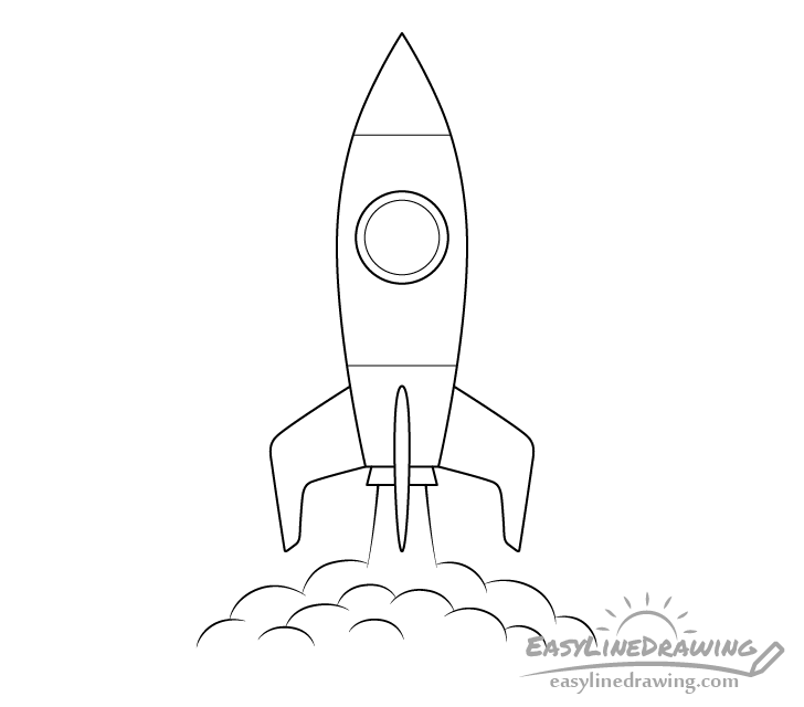 Rocket line drawing