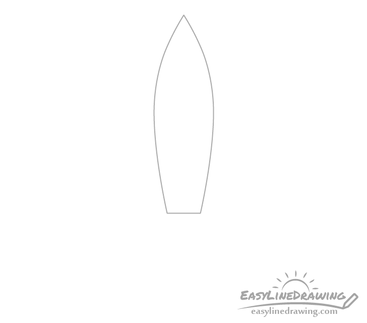 Rocket shape drawing