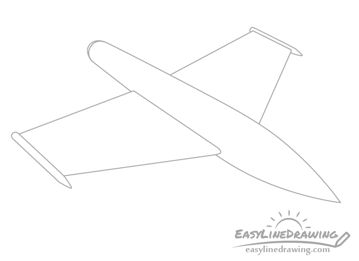 Fighter jet wings drawing