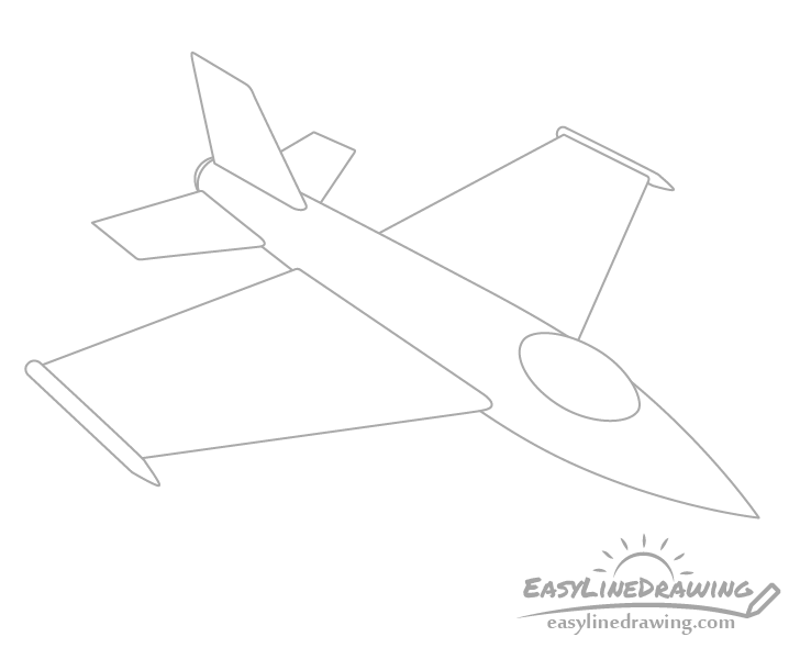 Fighter jet canopy drawing