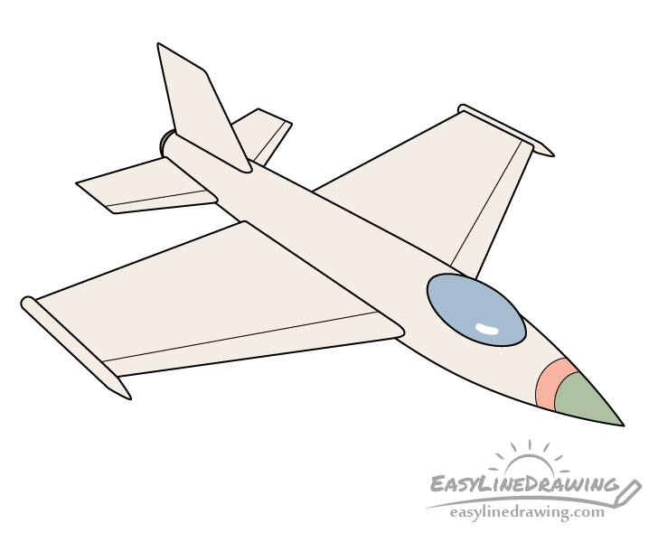 Fighter jet drawing